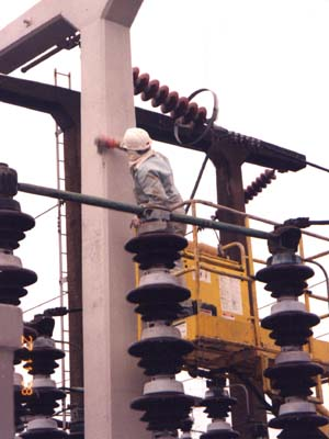 Anti-carbonation paint coating as last operation in repair of substation structures