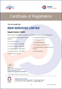 Ram Services Limited - UVDB Achilles